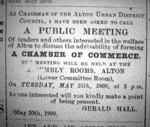 ACCI advert for first meeting 25th May 1909